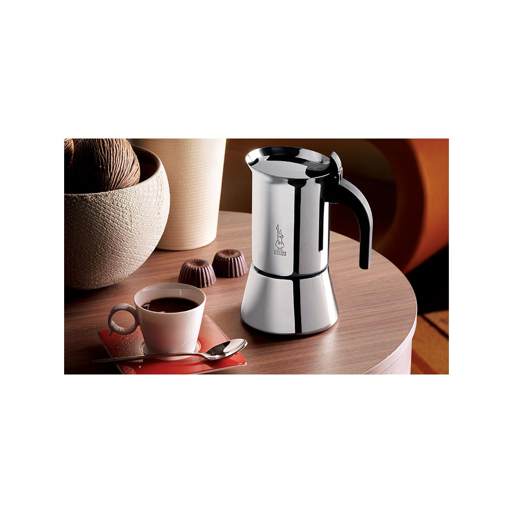 Stainless steel stovetop espresso maker 10 cup - Bialetti Venus