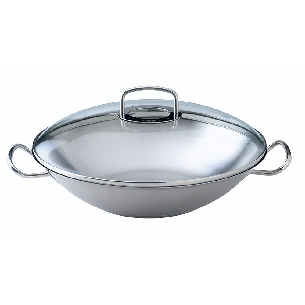 fissler original pro collection wok with glass lid. Black Bedroom Furniture Sets. Home Design Ideas