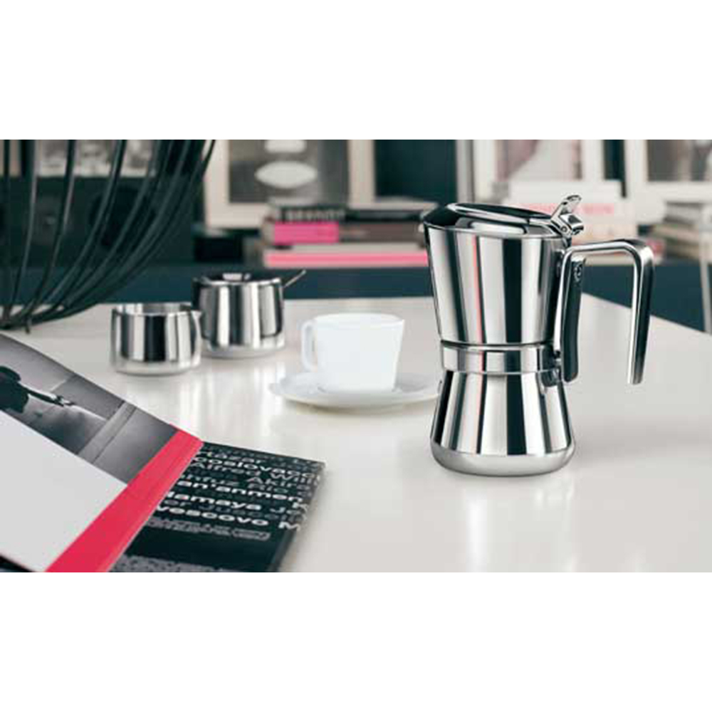 Stainless steel stovetop espresso maker 10 cup - Giannina Stovetop Espresso Maker