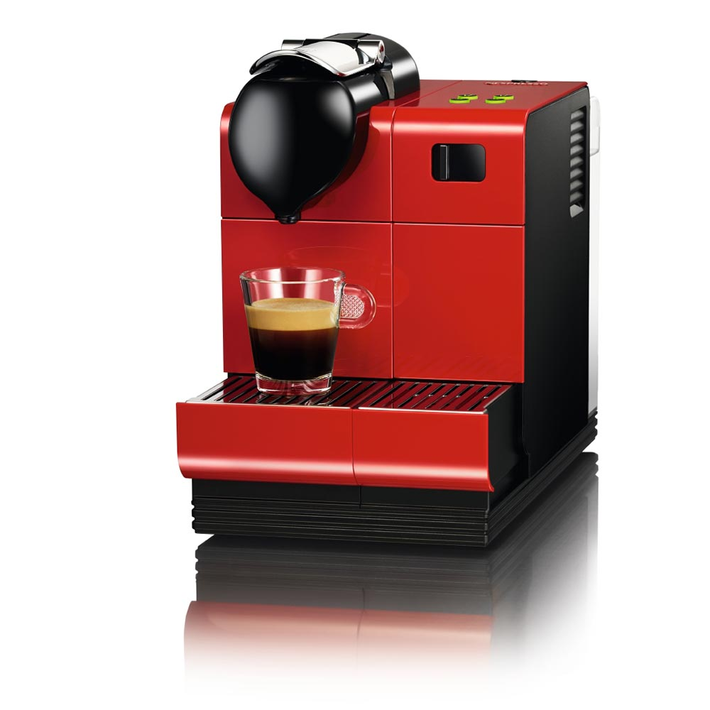DeLonghi Red Lattissima Plus Nespresso Capsule System
