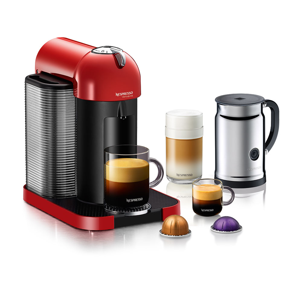 nespresso vertuo coffee and espresso machine bundle red. Black Bedroom Furniture Sets. Home Design Ideas